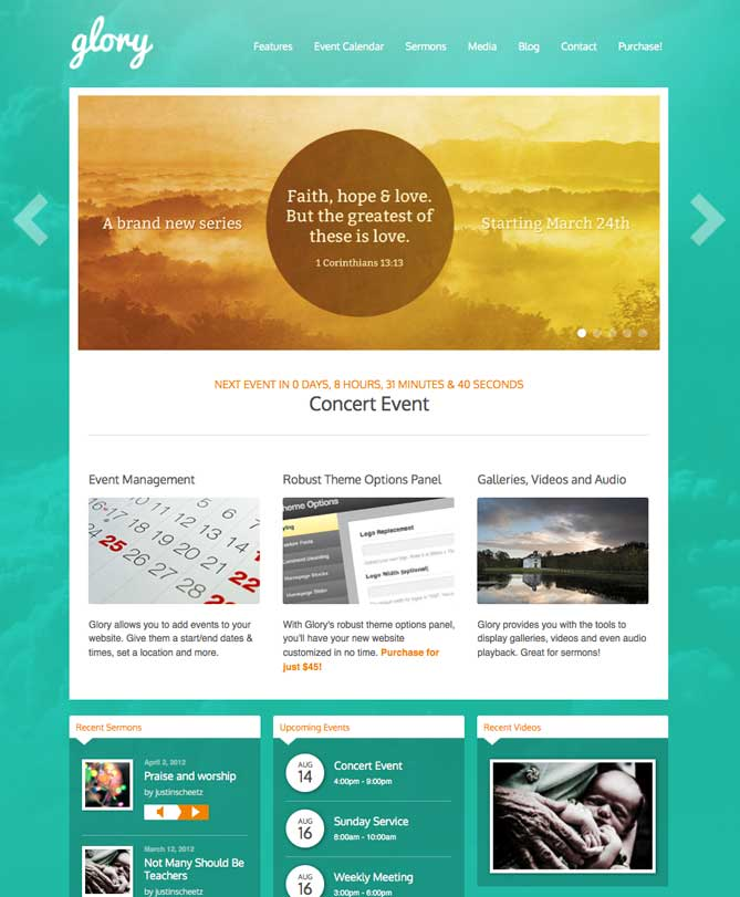 Glory WordPress Theme