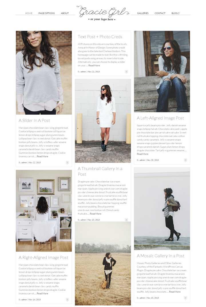 Gracie Girl WordPress Theme