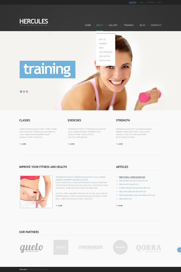 Hercules WordPress Health Theme