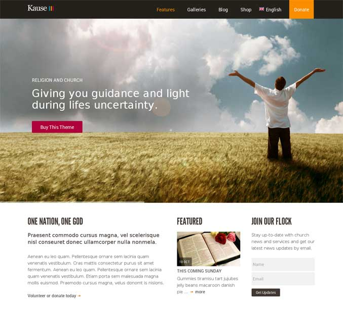 Kause WordPress Theme