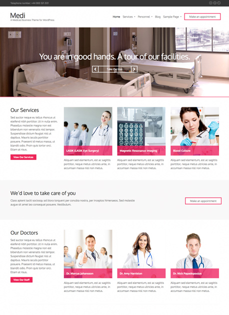 Medi Medical WordPress Theme
