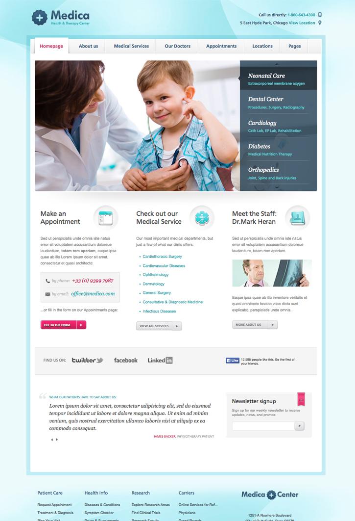 Medica WordPress Theme