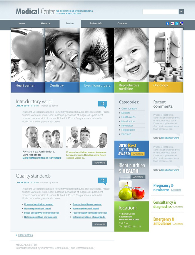 Medical Center WordPress Theme for Hospitals