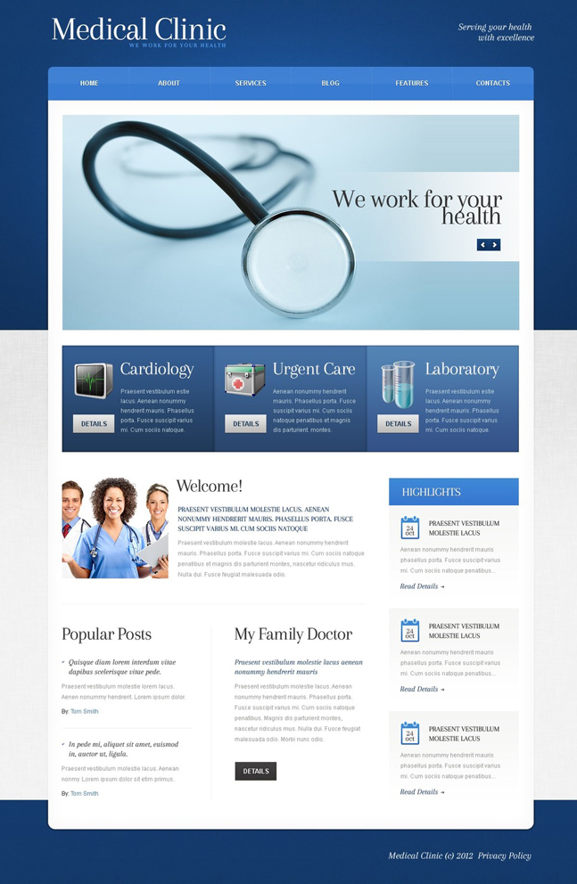 Medical Clinic WP theme