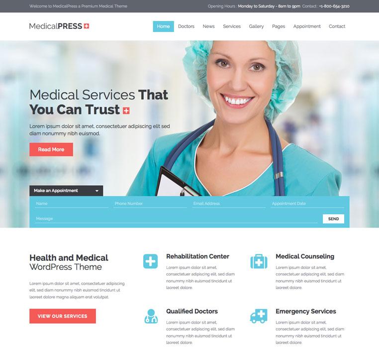 MedicalPress Theme WP