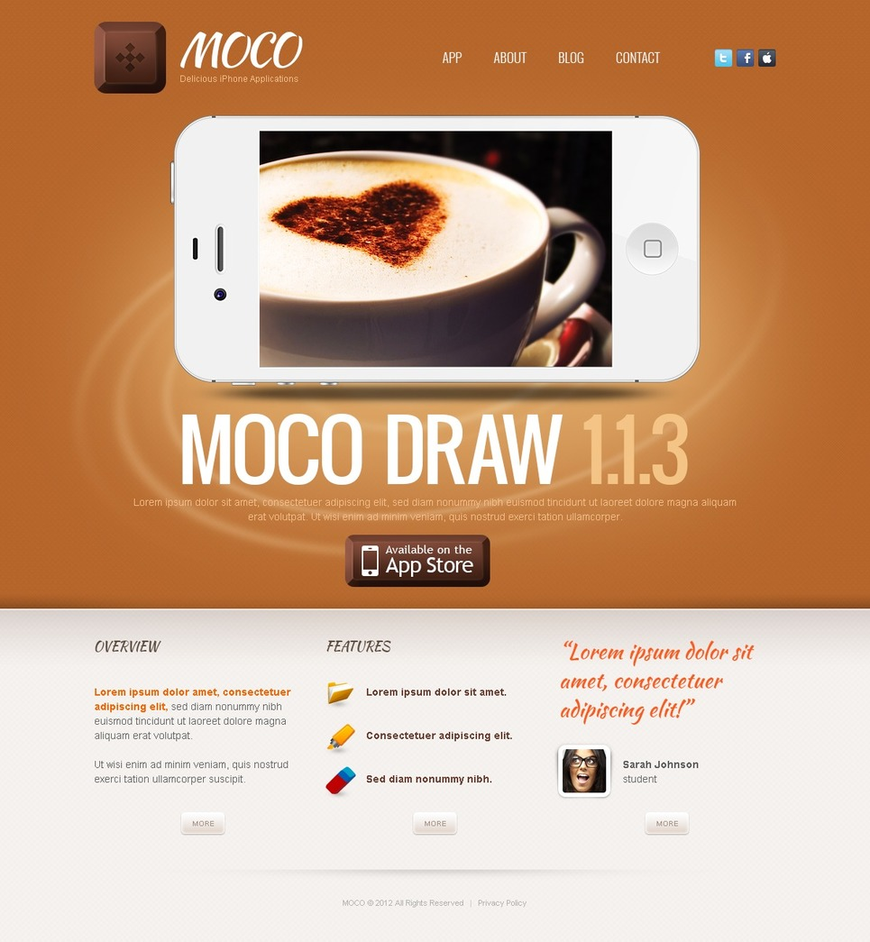 iphone app wordpress theme