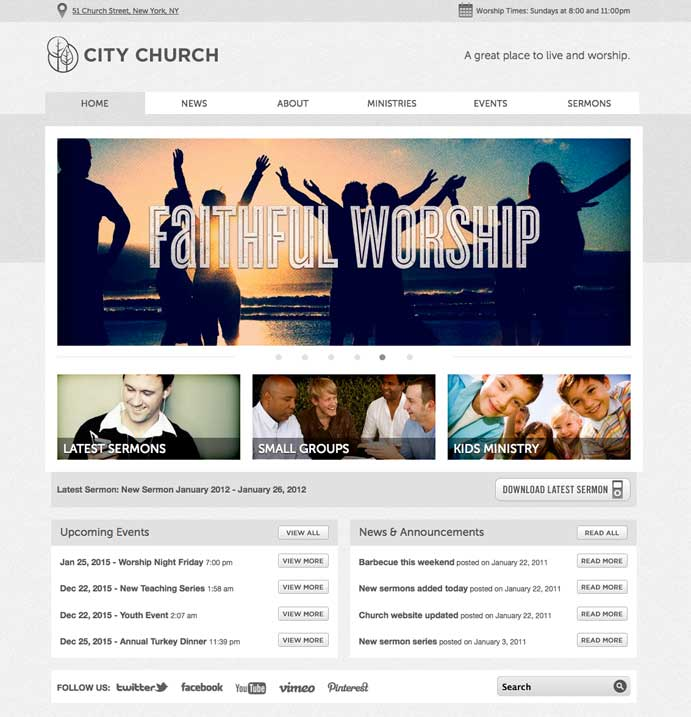 Moses Theme WordPress Church Themes