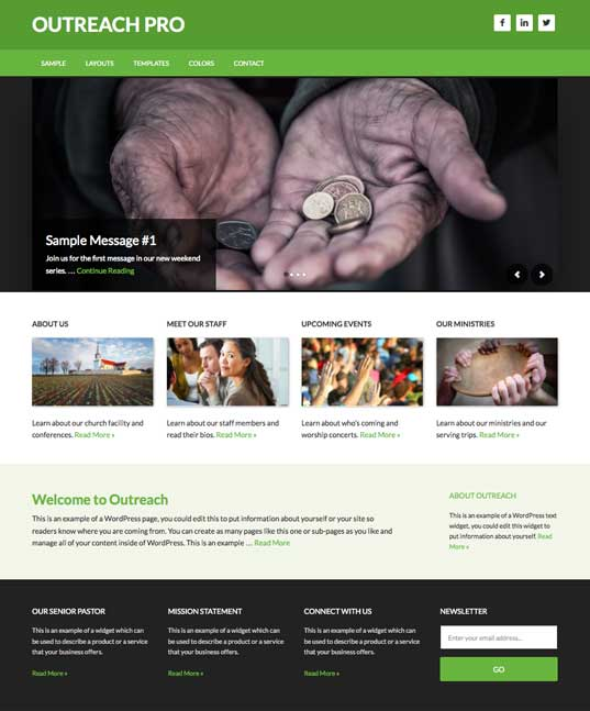 Outreach Pro WordPress Church Theme