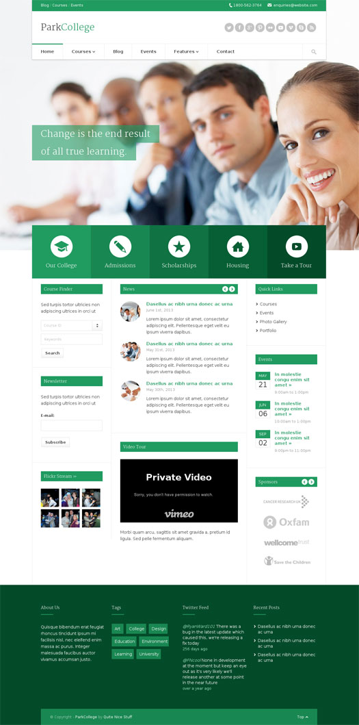 ParkCollege WordPress  College Template