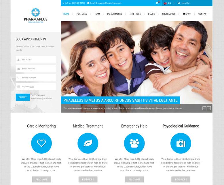 PharmaPlus WordPress theme template