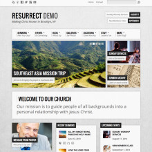 church wordpress theme resurrect light