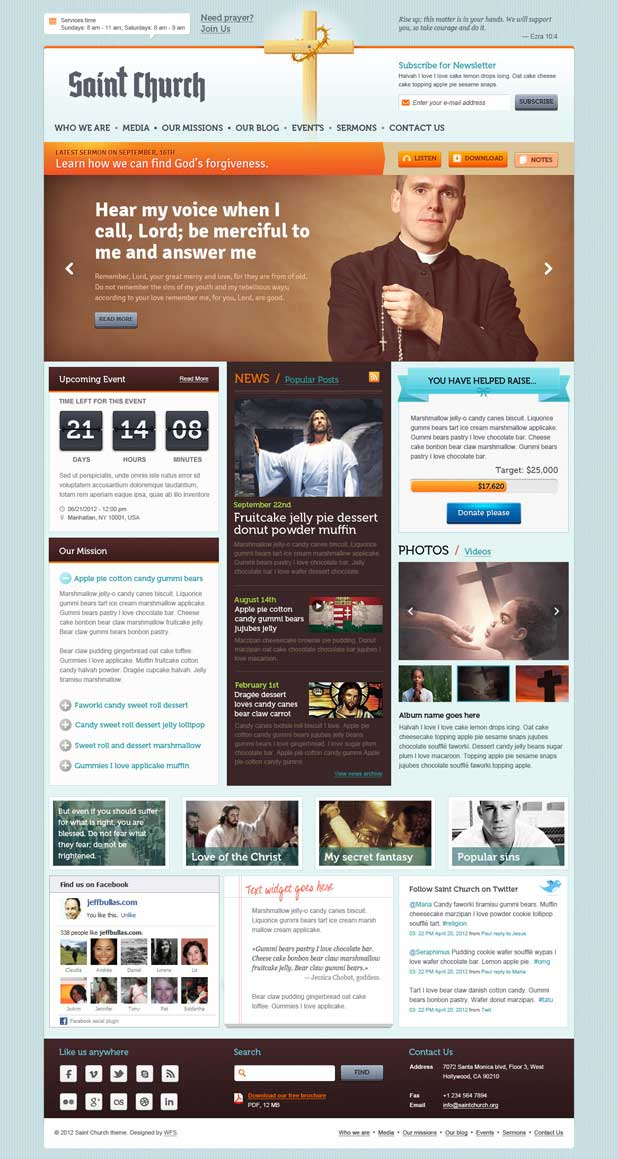Saint Church WordPress Theme
