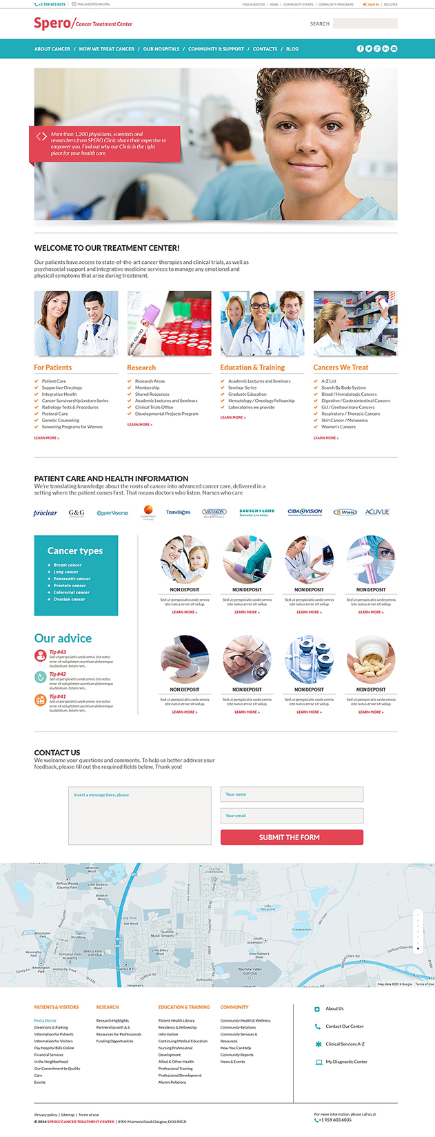 Rehabilitation WordPress Theme for Doctor's Office or Treatment Center