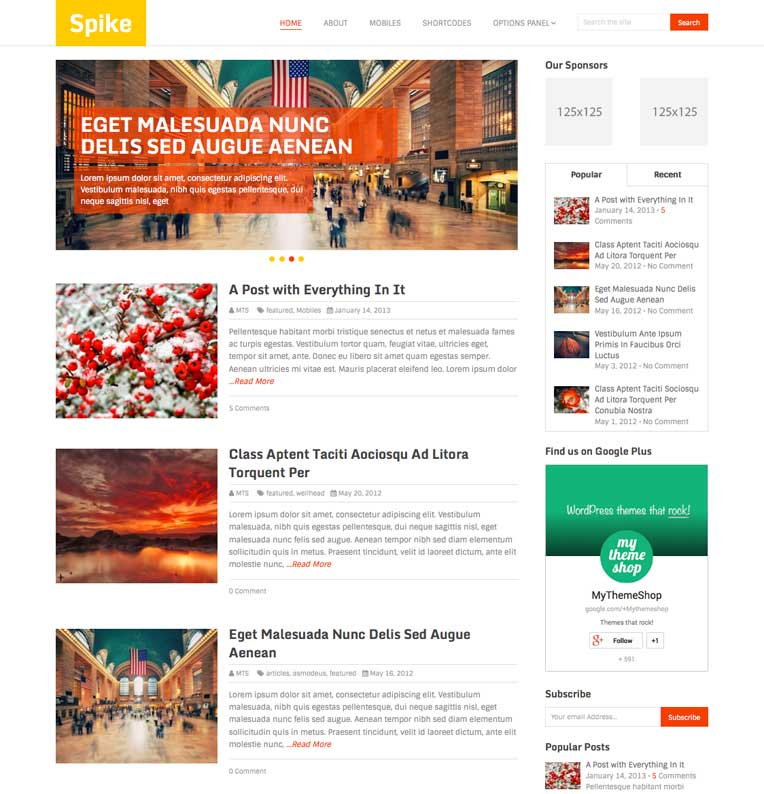Spike WordPress Theme from MyThemeShop