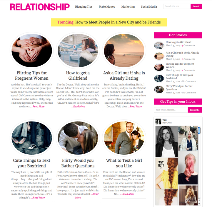 Spike WordPress Theme - Feminine Relationship Theme