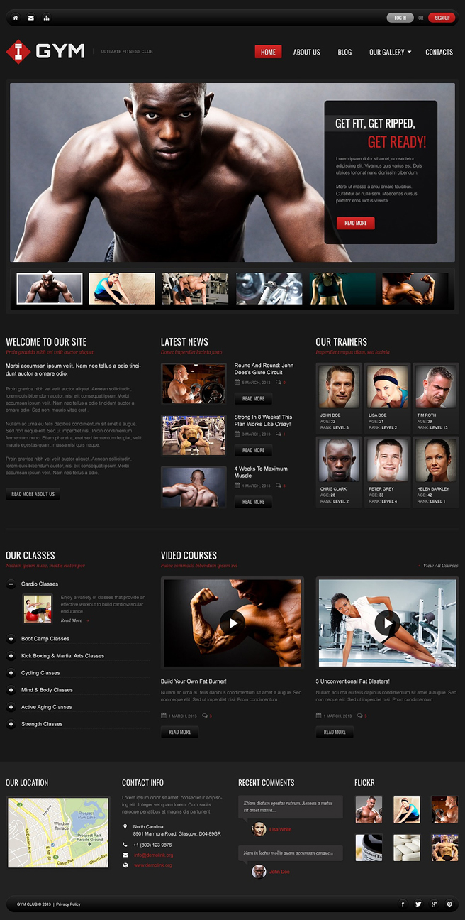 Ultimate Gym WordPress Theme
