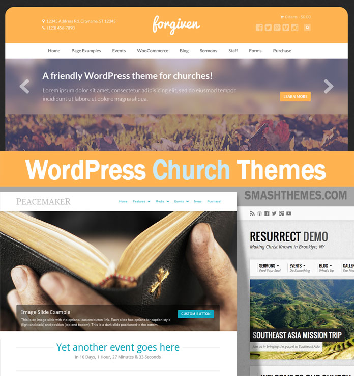20+ Beautiful Church WordPress Themes 2016 - SmashThemes