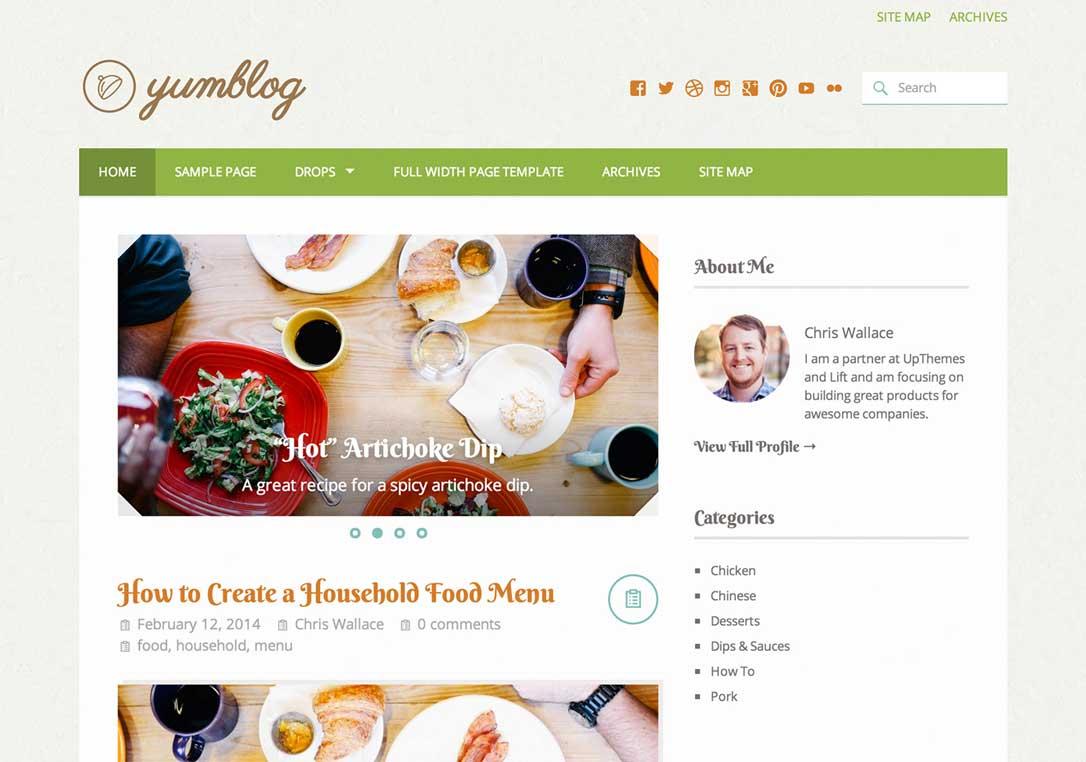 Yumblog WordPress Recipe Theme