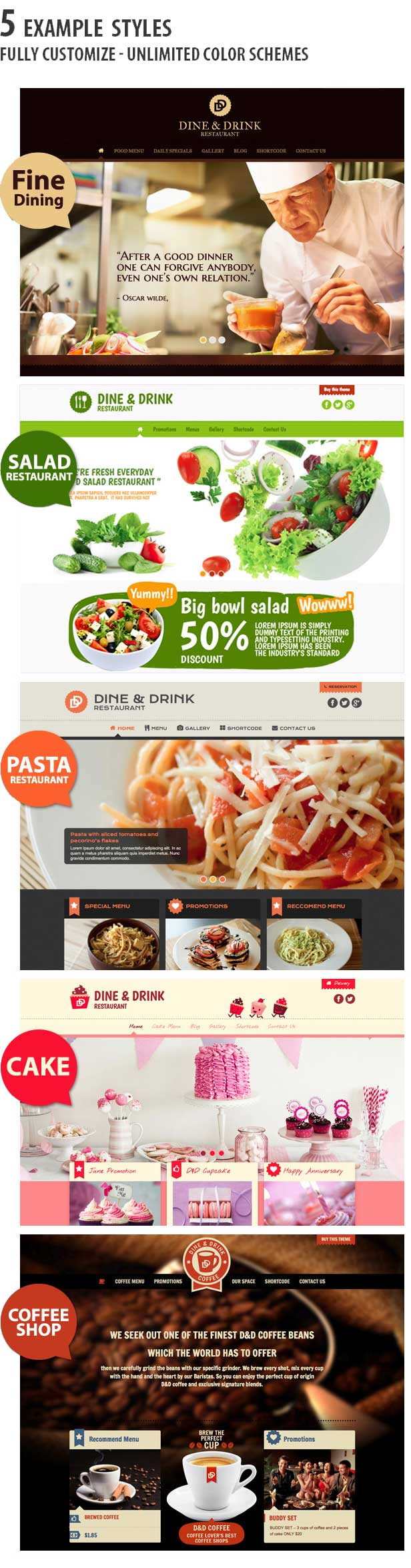dine and drink wordpress theme