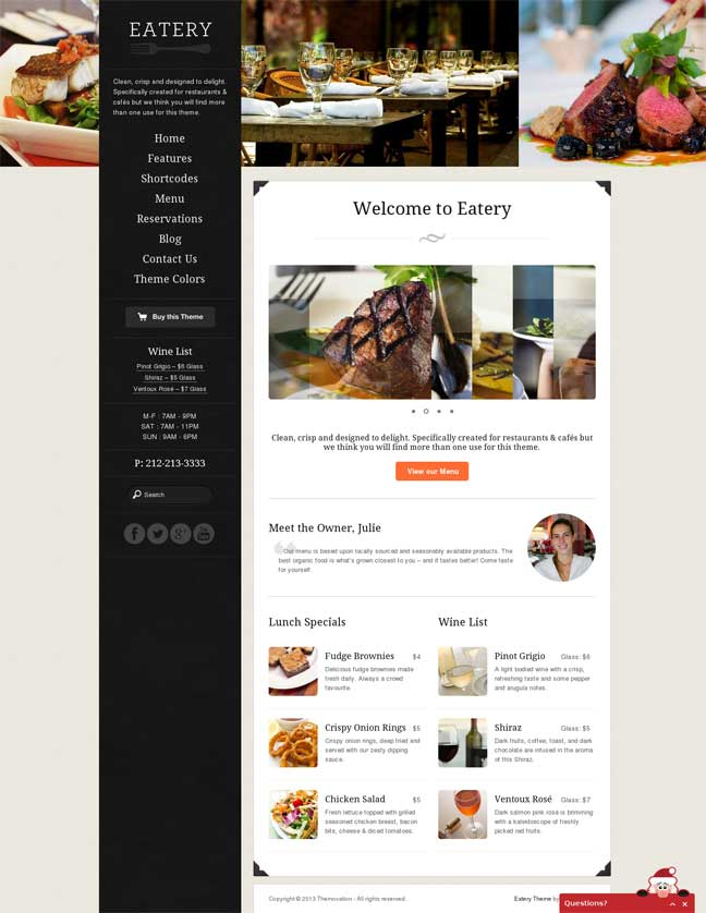 eatery wp theme
