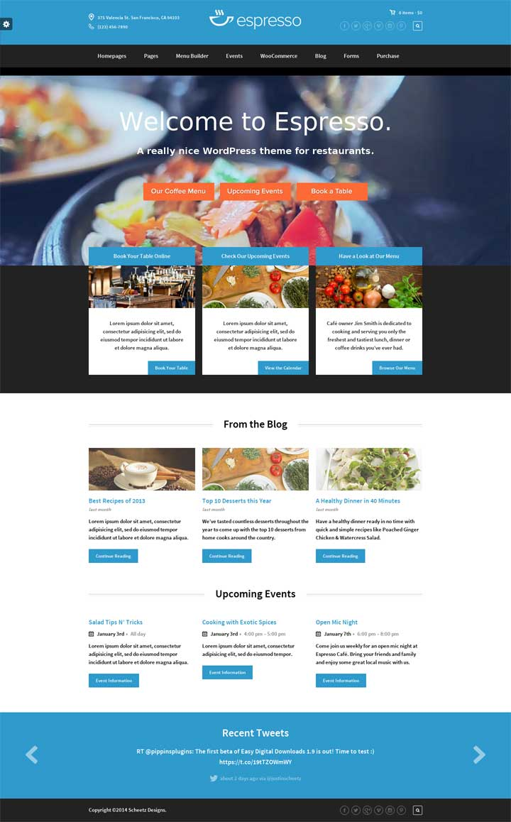 espresso wordpress theme
