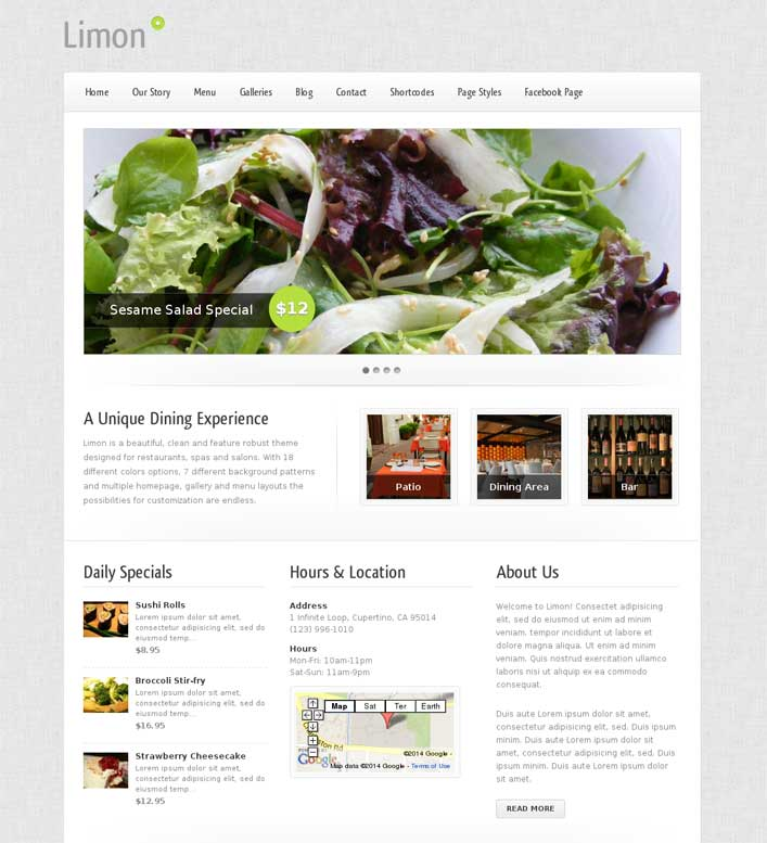 limon wordpress theme