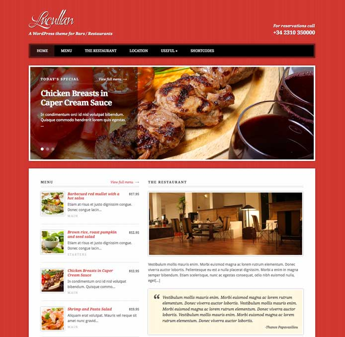 Lucullan WordPress Theme