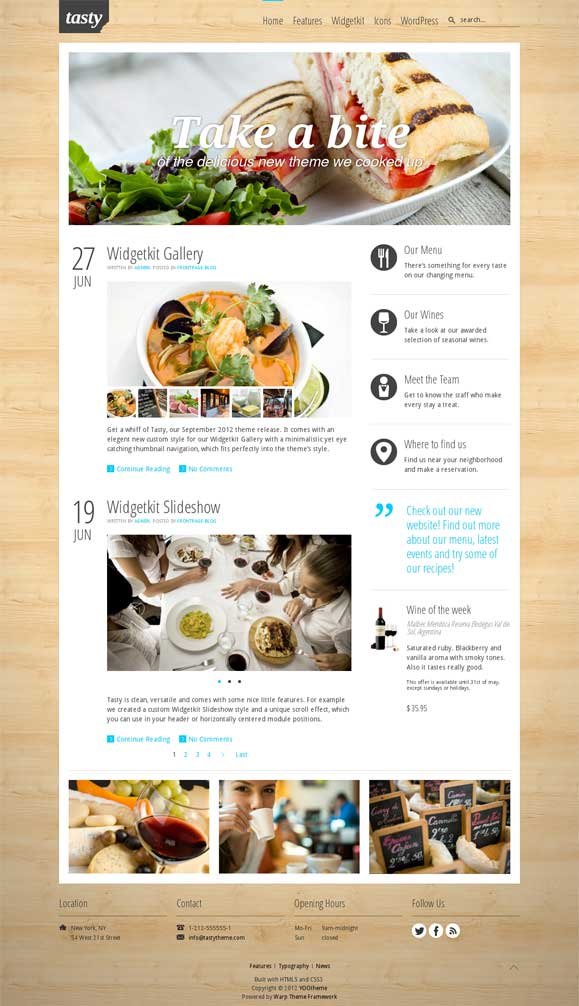 Tasty WordPress Theme by YooThemes