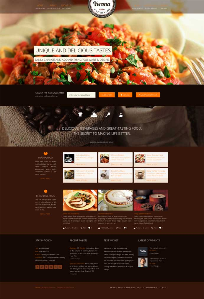 verona wordpress theme