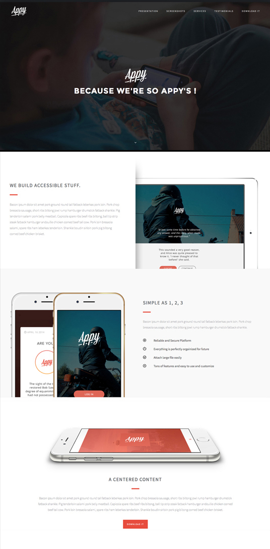 Appy WP Mobile App Theme