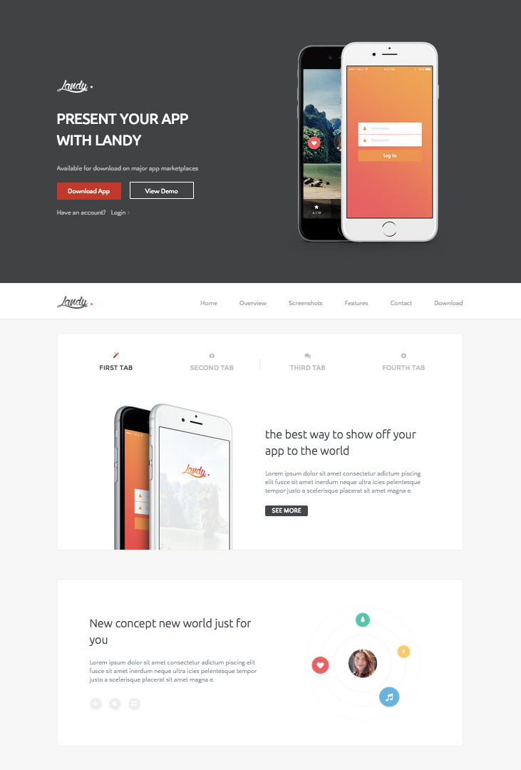 Landy WordPress Theme for Mobile Apps